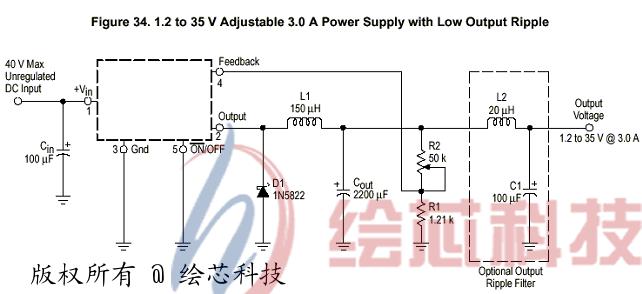 可调电源 lm2576电路图