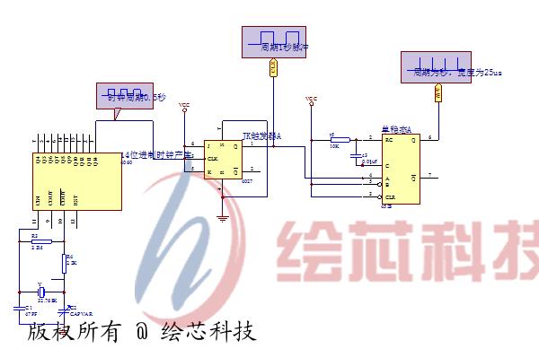 1 ic  cd4027 2分频 1 ic  cd4528 单稳态 1 光电开关管   1 晶振 32.