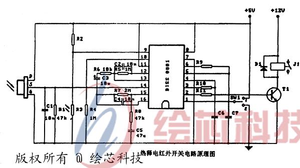 红外专用放大电路biss0001微功耗芯片