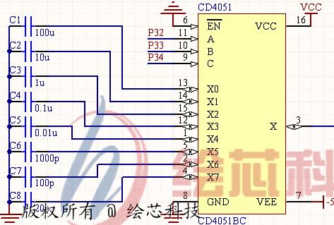 新闻资讯 技术天地   cd4051 开关电路见图2.2.
