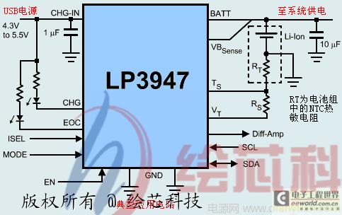 单节锂电池充电管理集成电路lp3947